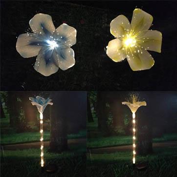 زهرة الألياف البصرية ضوء الديكور