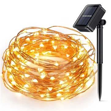 الطاقة الشمسية الأسلاك النحاسية سلسلة ضوء